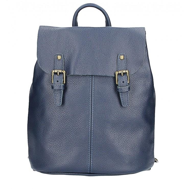 Kožený batoh MI202 Made in Italy modrá
