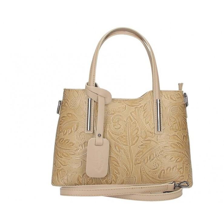 Genuine Leather Handbag 1493 taupe