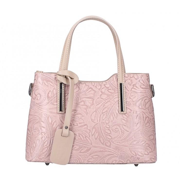 Genuine Leather Handbag 1493 powder pink