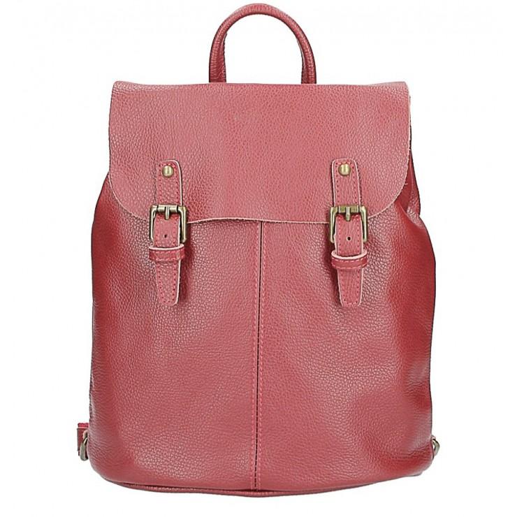 Kožený batoh MI202 Made in Italy tmavočervená