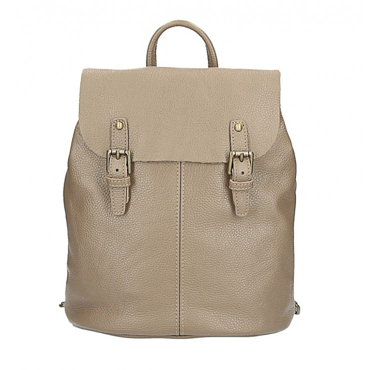 Leather backpack MI202 Made in Italy taupe