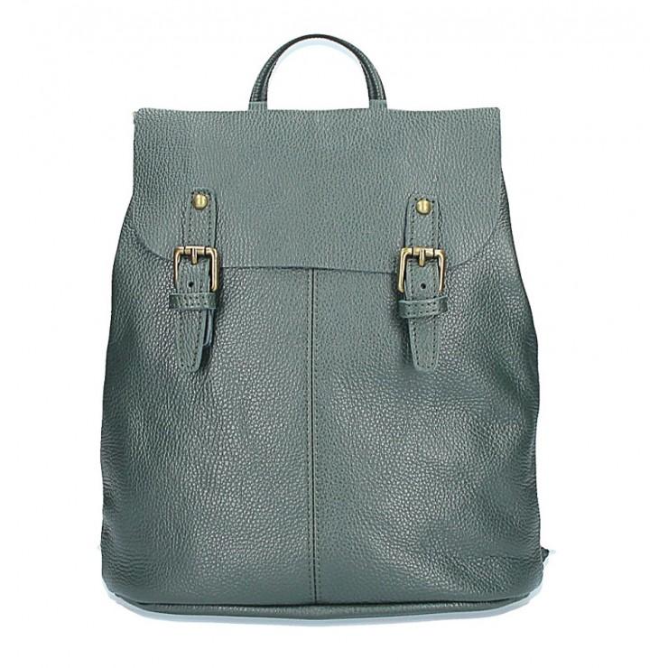 Kožený batoh MI202 Made in Italy tmavozelená
