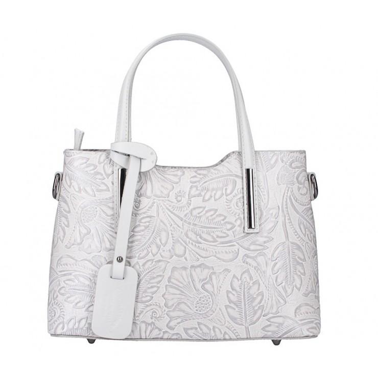 Genuine Leather Handbag 1493 gray