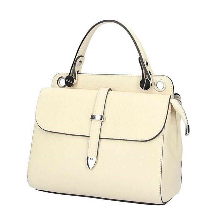 Italian Genuine Leather Handbag 5315 beige