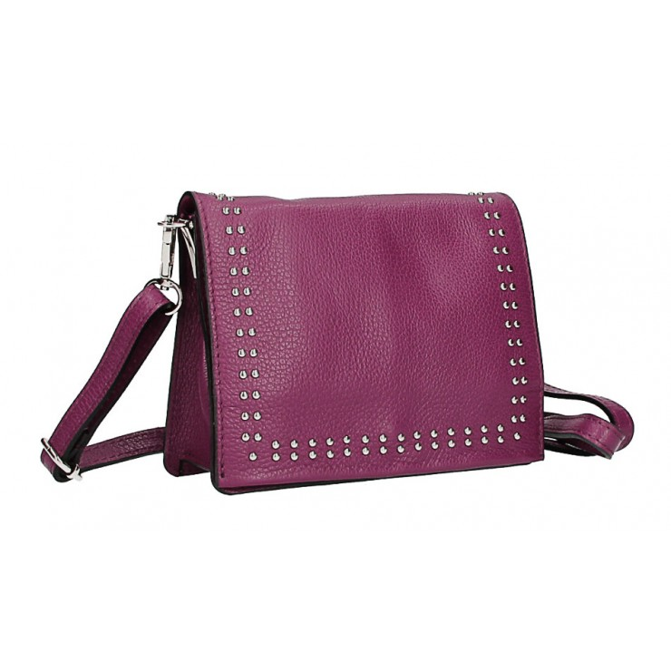 Leather Handbag  MI199 Made in Italy bordeaux