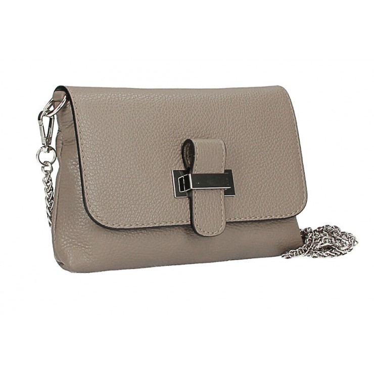 Leather messenger bag  MI305 Made in Italy taupe