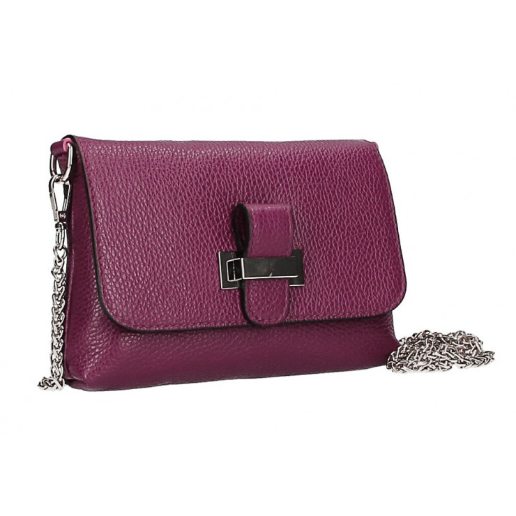 Leather messenger bag  MI305 Made in Italy bordeaux