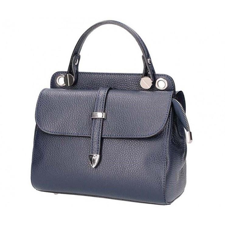 Tmavomodrá talianska kožená kabelka 5315