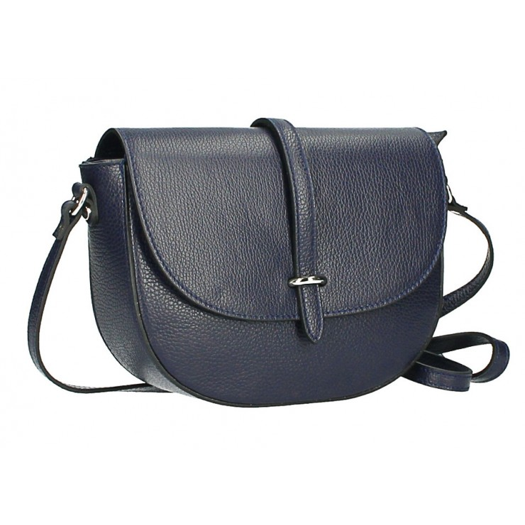 Leather messenger bag  MI359 Made in Italy blue