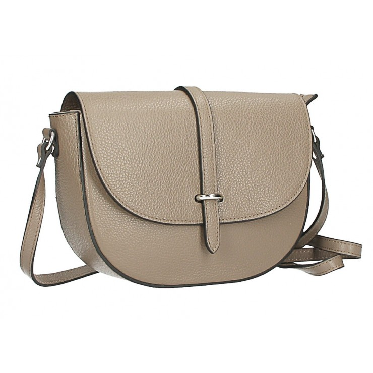 Leather messenger bag  MI359 Made in Italy dark taupe