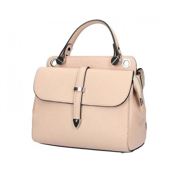 Ružová talianska kožená kabelka 5315