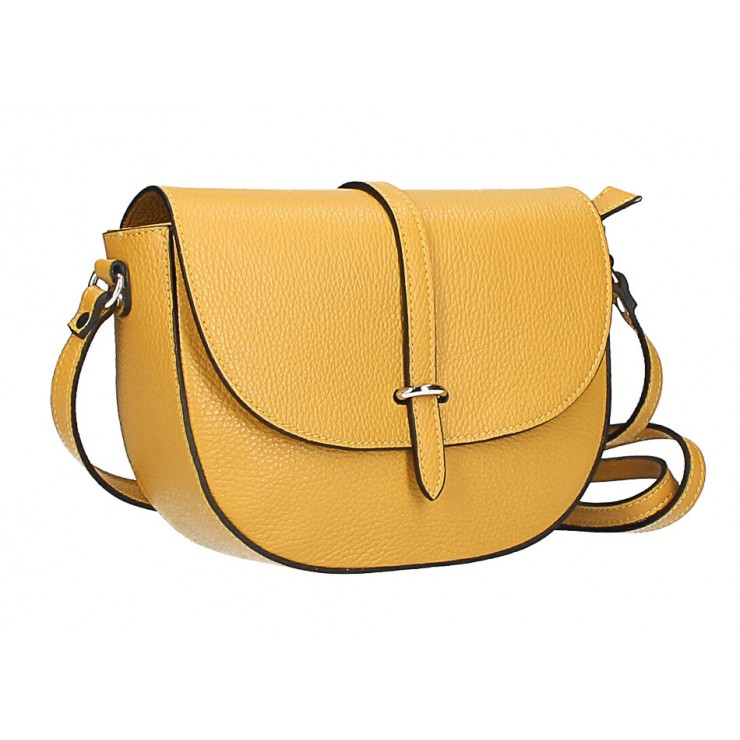 Leather messenger bag  MI359 Made in Italy mustard