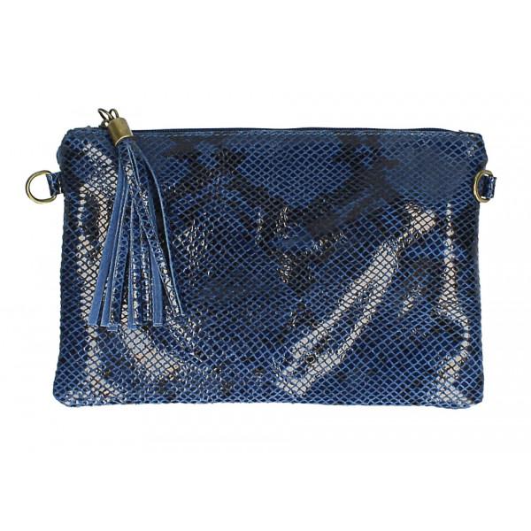 Kožená kabelka s potlačou hada MI311 Made in Italy jeans
