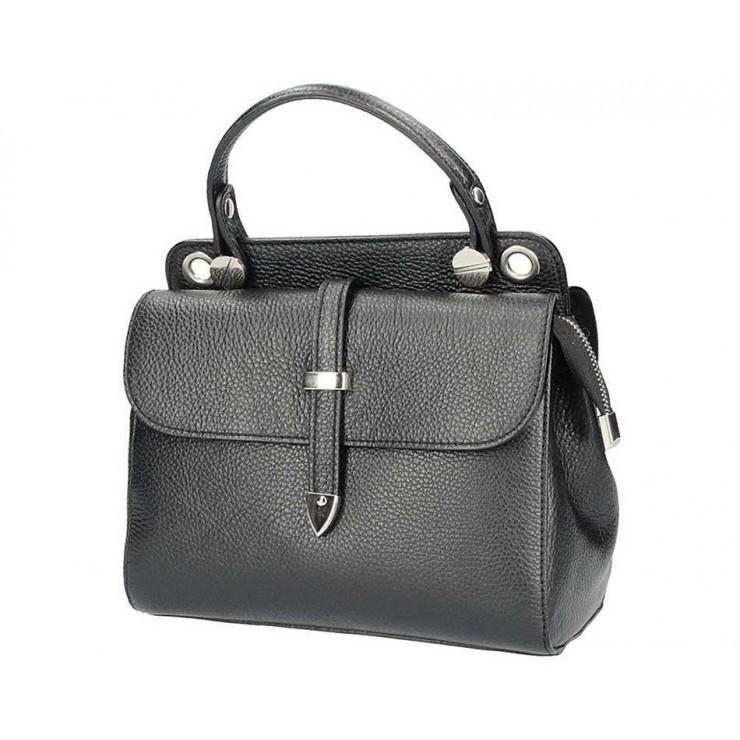 Čierna talianska kožená kabelka 5315