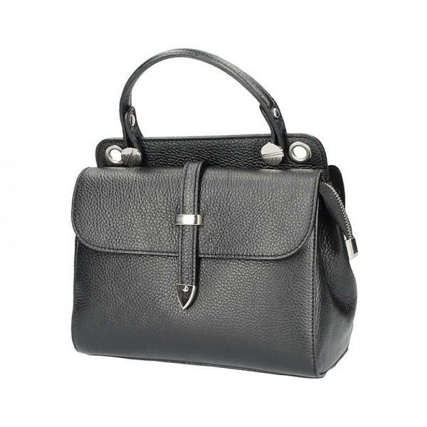 ba945d22c Čierna talianska kožená kabelka 5315 - MONDO ITALIA s.r.o.