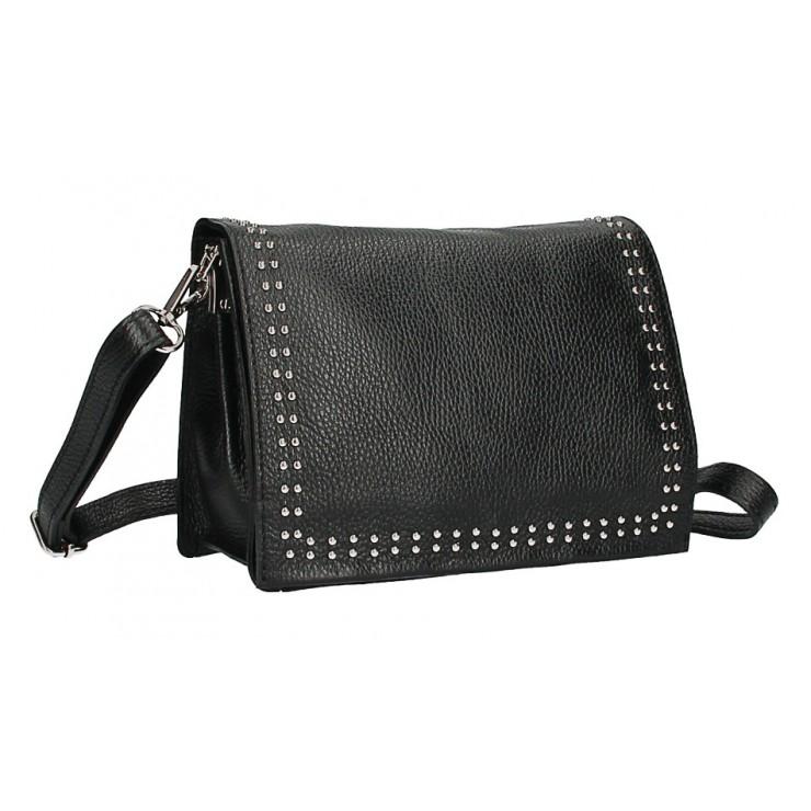 Leather Handbag MI206 Made in Italy black