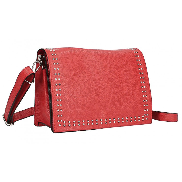 Leather Handbag MI206 Made in Italy red