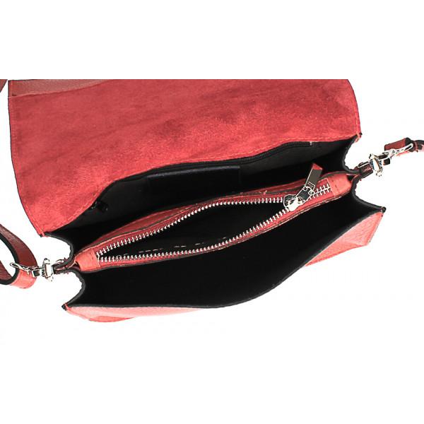 Kožená kabelka s cvokmi MI206 Made in Italy okrová
