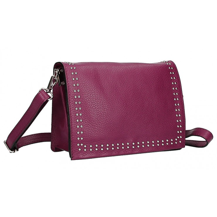 Leather Handbag MI206 Made in Italy bordeaux