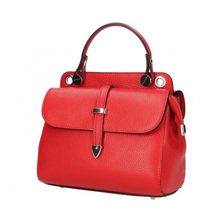 Červená talianska kožená kabelka 5315