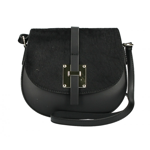 Shoulder bag with Cavallino MI209 Made in Italy black