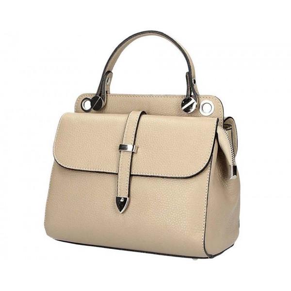 Šedohnedá talianska kožená kabelka 5315