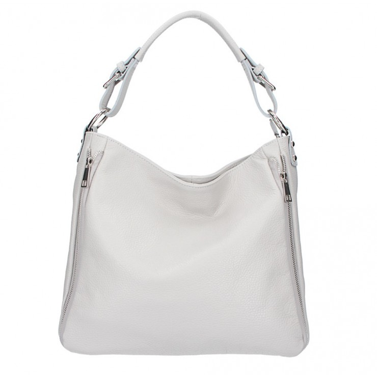 Leather shoulder bag 390 gray