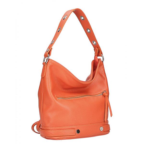 Kožená kabelka na rameno 220 Made in Italy červená