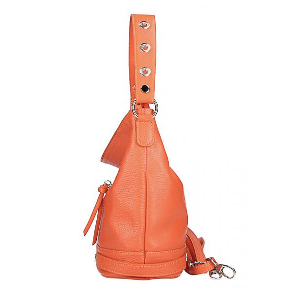 Kožená kabelka na rameno 220 Made in Italy okrová