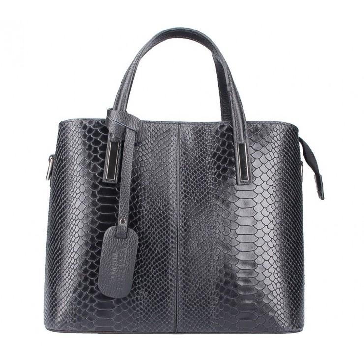 Čierna kožená kabelka 960