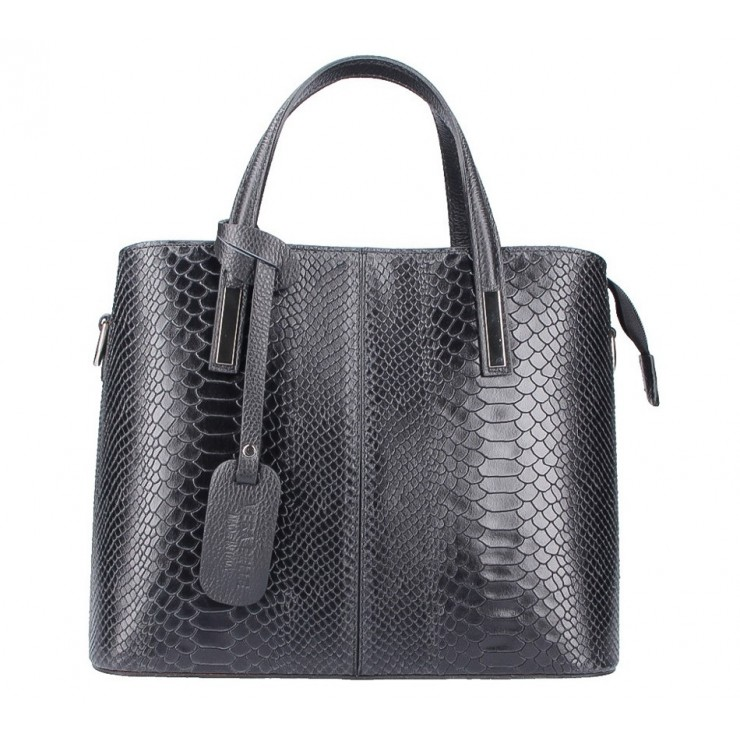 Genuine Leather Handbag 960 black