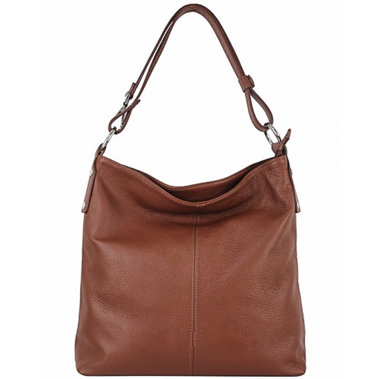 Leather Handbag 762 brown Made in Italy