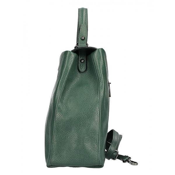 Kožená kabelka do ruky MI226 koňaková Made in Italy