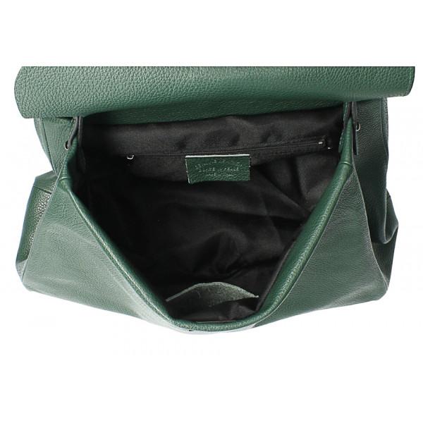 Kožená kabelka do ruky MI226 okrová Made in Italy