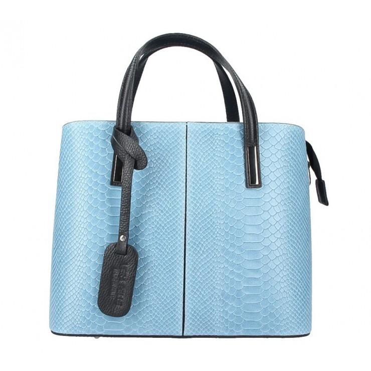 Genuine Leather Handbag 960 light blue