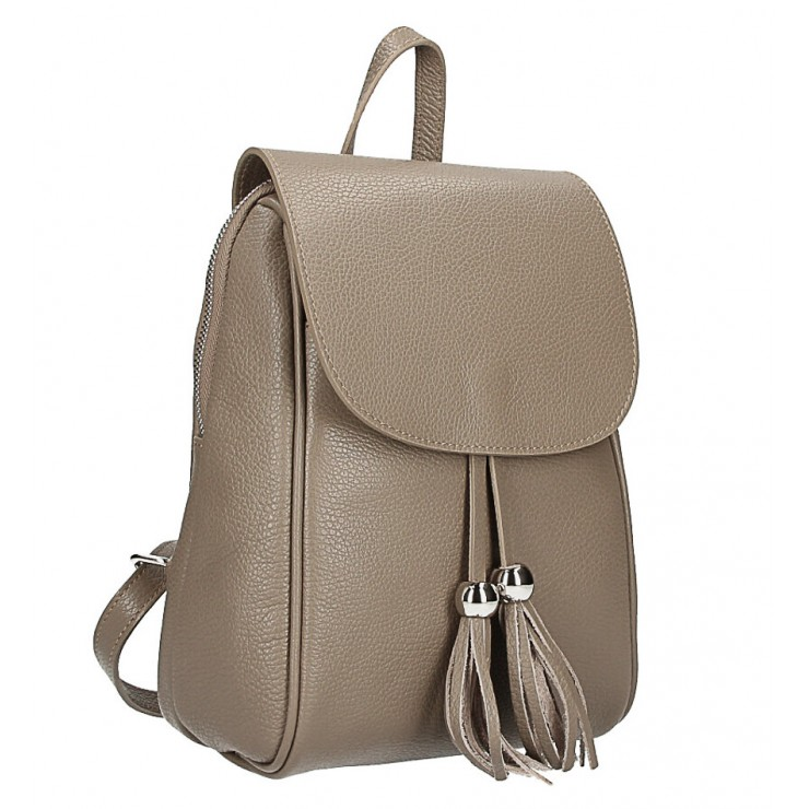 Leather backpack MI228 dark taupe Made in Italy