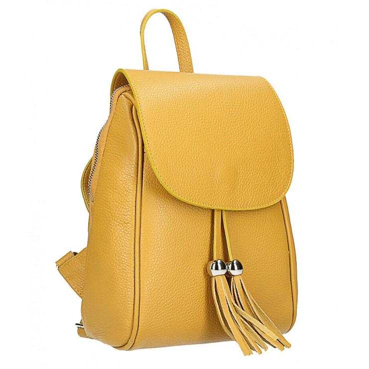 Kožený batoh MI228 okrový Made in Italy