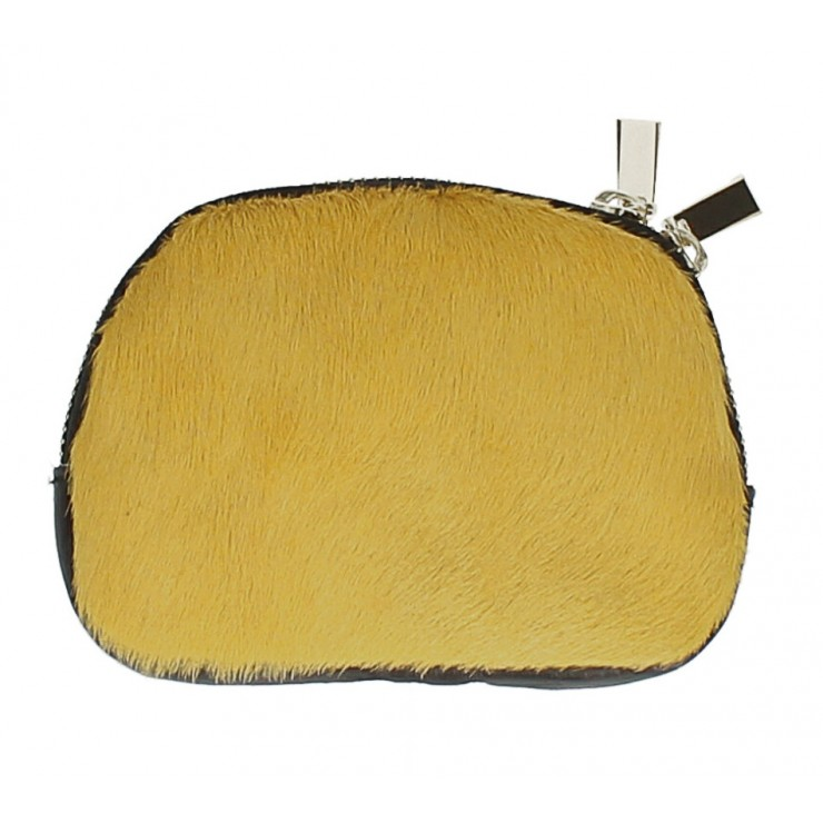 Kožené púzdro zo srste MI216 žlté Made in Italy