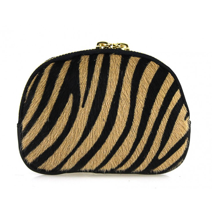 Cavallino Pouch MI216 dark zebra Made in Italy