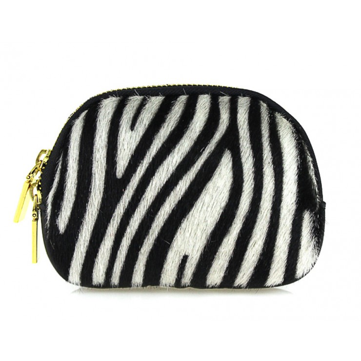 Cavallino Pouch MI216 zebra Made in Italy