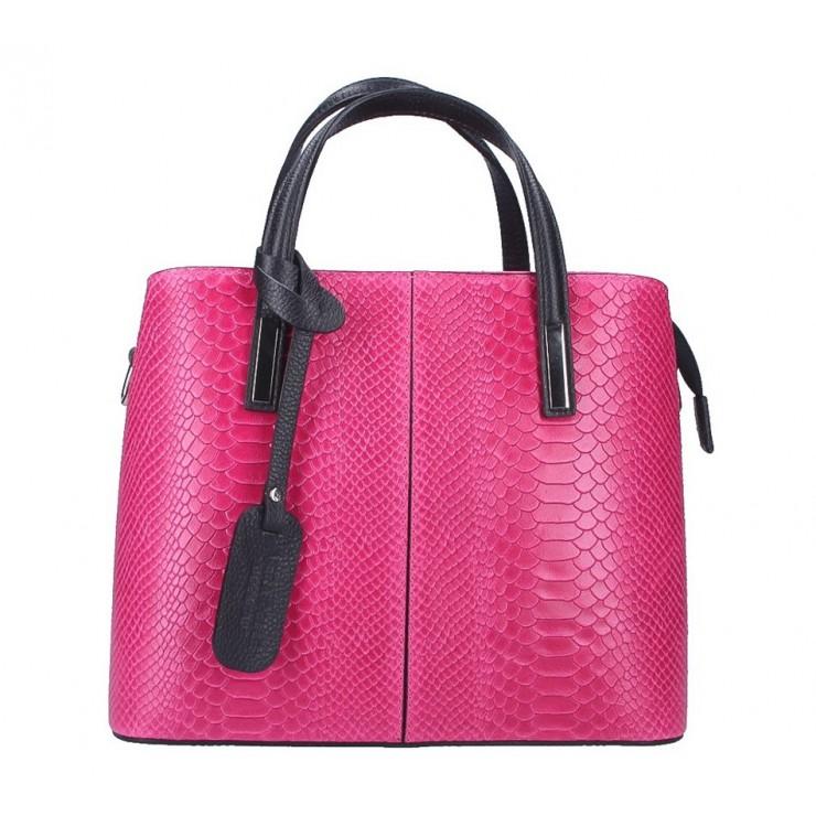 Genuine Leather Handbag 960 fuxia