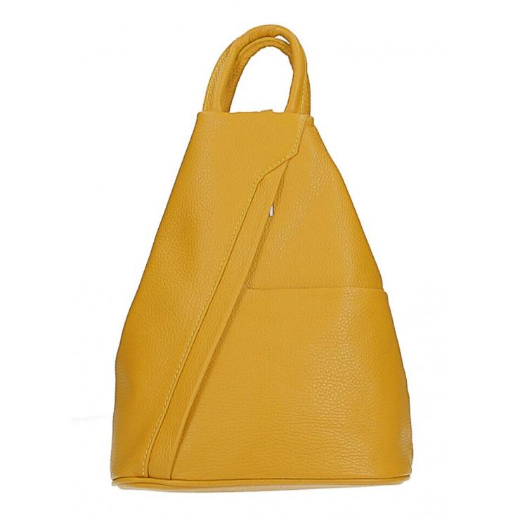 Kožený batoh MI223 okrový Made in Italy