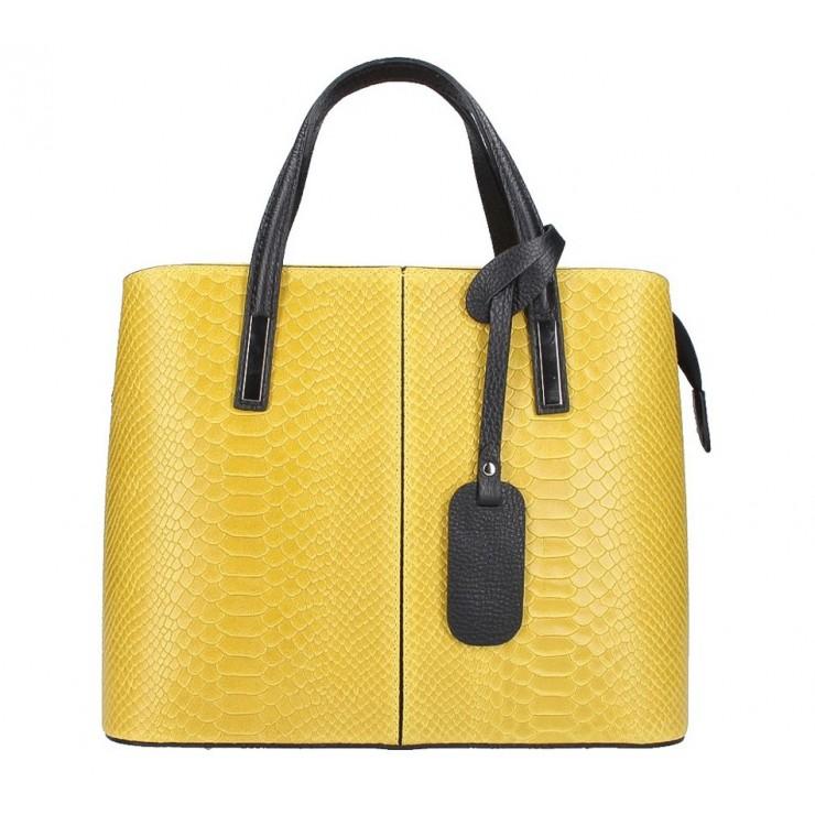Žltá kožená kabelka 960