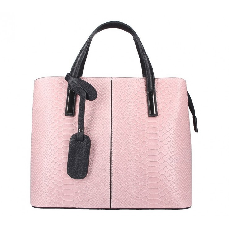 Genuine Leather Handbag 960 pink