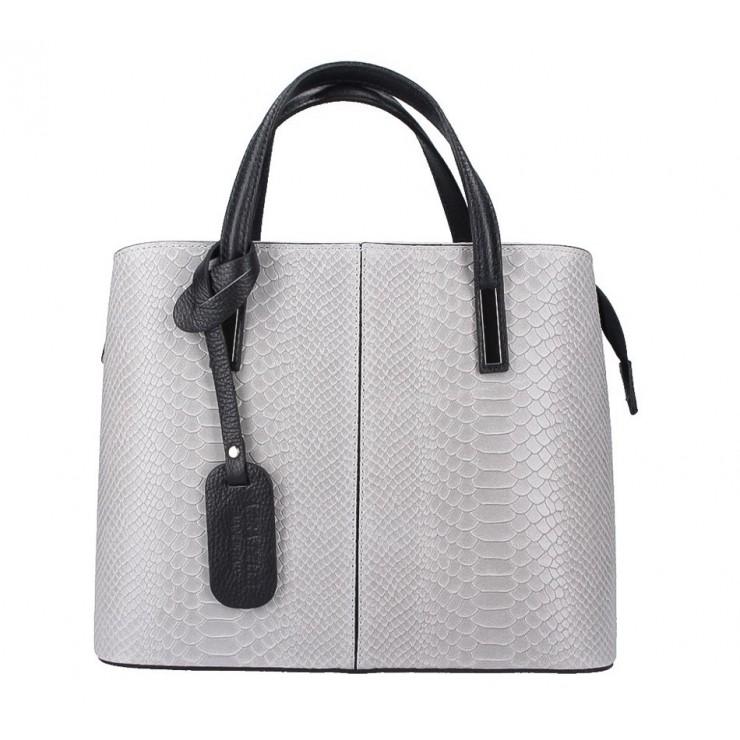 Genuine Leather Handbag 960 gray