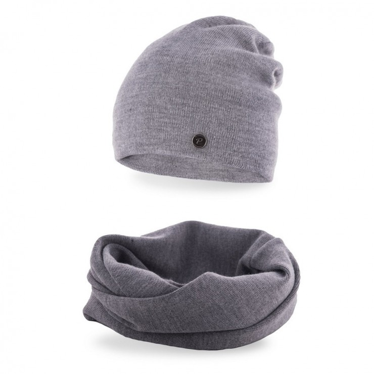 Women's Winter Set hat and scarf MI77 gray
