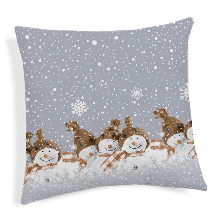Pillowcase Teddy Snowman beige 40x40 cm Made in Italy