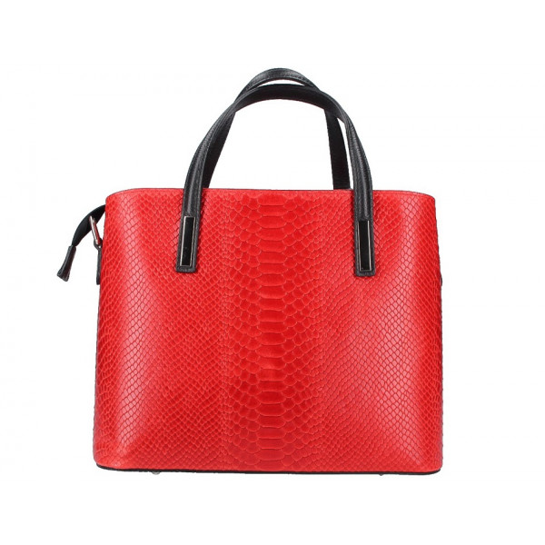 Šedohnedá kožená kabelka 960 Made in Italy Šedohnedá