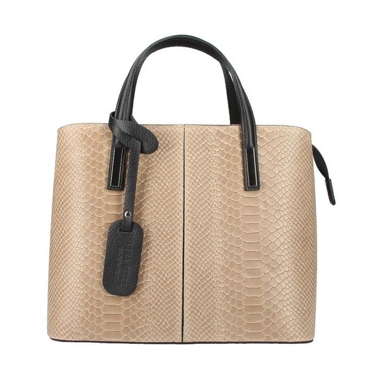 Genuine Leather Handbag 960 taupe