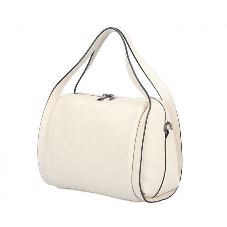 Genuine Leather Handbag 5315 beige